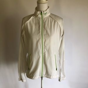 Nike Womens M White Windbreaker jacket